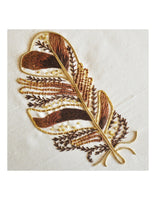 Tawny Owl Feather Metalwork Embroidery Kit - Beginner
