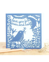 'Love You to the Moon and Back' Laser Cut Card