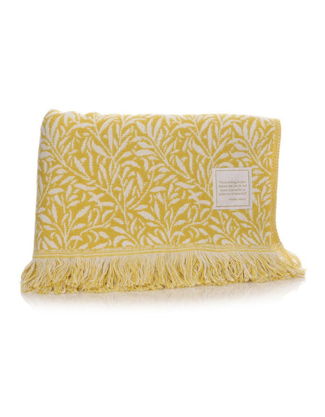 Willow Yellow Throw
