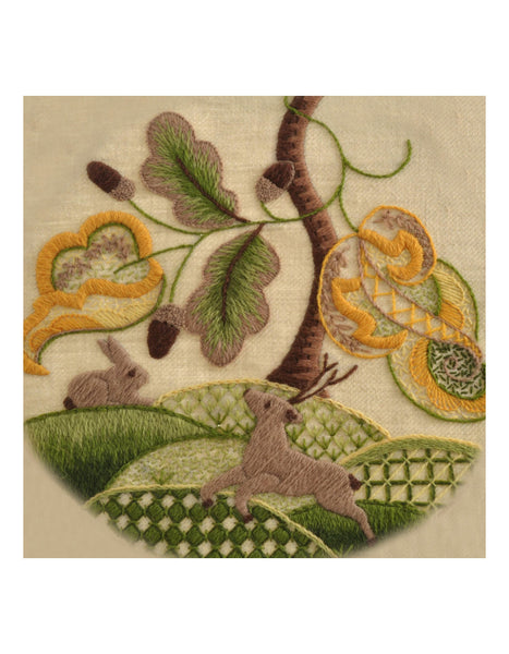 Woodland Animals Crewel Work Embroidery Kit - Intermediate