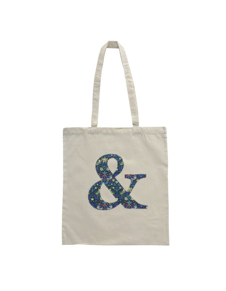 Strawberry Thief Applique Ampersand Tote Bag