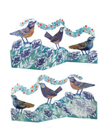 Berry Birds 3D Greetings Card