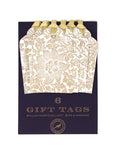 Bird and Anemone Gift Tags (pack - white)