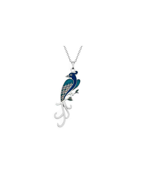 Sea Gems - Enamel Birds of Paradise Necklace