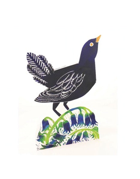 Blackbird 3D Greetings Card