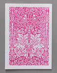 William Morris Letterpress - Brother Rabbit (pink)