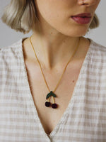 Wolf & Moon Cherry Necklace