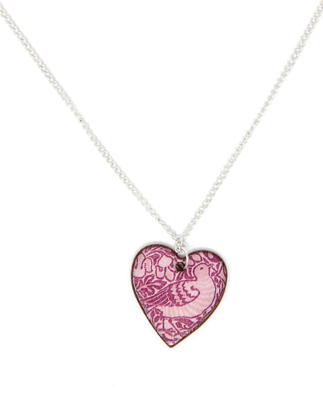 Dove and Rose Heart Pendant