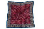 Dove and Rose Gallery Silk Scarf (Red)