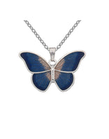Sea Gems - Enamel Butterfly Necklace (blue)