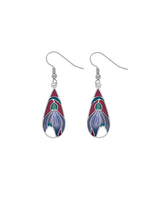 Sea Gems - Enamel Crocus Earrings (red)