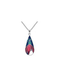 Sea Gems - Enamel Crocus Pendant (blue)