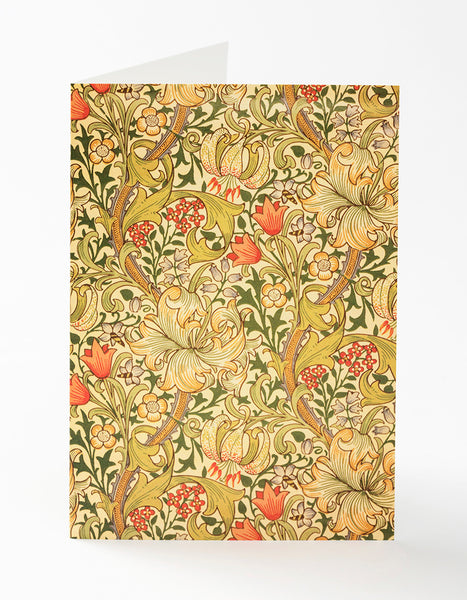Golden Lily Greetings Card