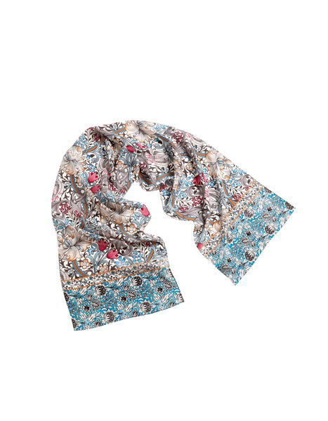 Golden Lily Pattern Scarf (pink)