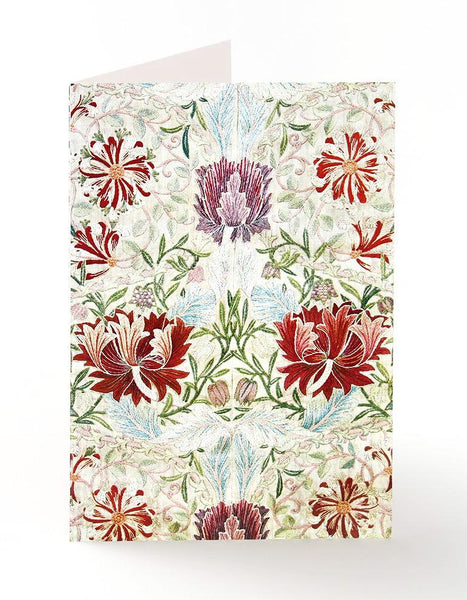 Honeysuckle Embroidery Greetings Card