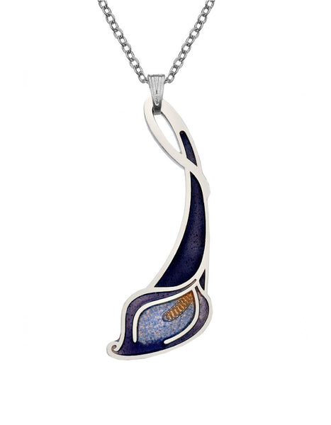 Sea Gems - Enamel Lily Necklace (purple/lilac)