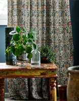 Little Chintz Fabric (Teal/Saffron - 1 metre)