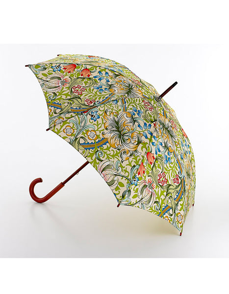 Morris & Co Golden Lily Print Canopy Umbrella