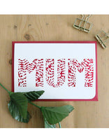 'Mum' Laser Cut Card