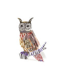 Owl 3D Greetings Card