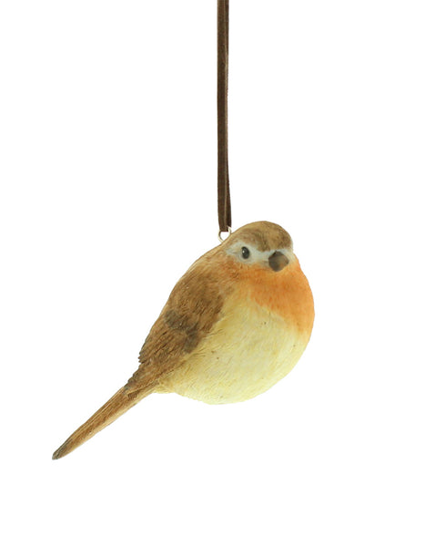Robin Painted Resin Decoration