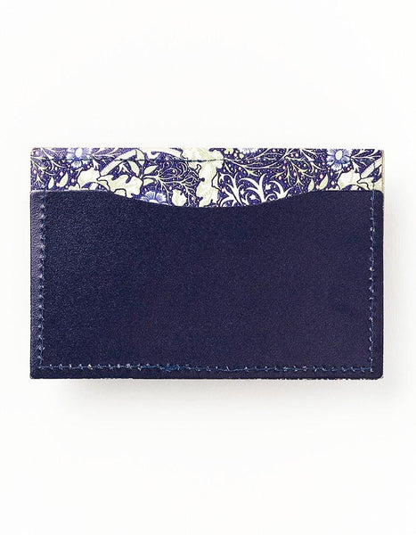 Seaweed Double-sided Slim Leather Card Holder