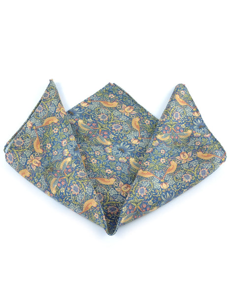 Strawberry Thief Pocket Square (small pattern)