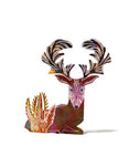 Stag 3D Greetings Card