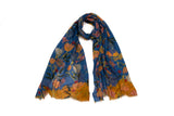 Tulips Gallery Scarf (Blue)