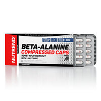 Beta-Alanine Compressed Caps – это:  1150 мг бета-аланина в каждой капсуле; легко усваиваемые капсулы; L-гистидин прилагается.