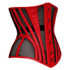 Caged Crusher Underbust Corset - Red