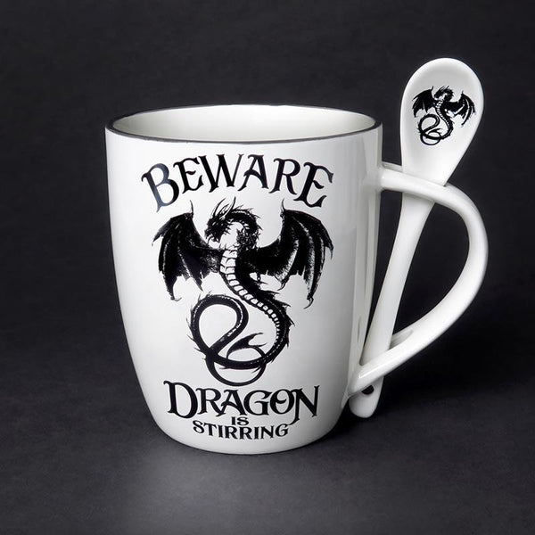 Dragon is Stirring Mug and Spoon Set