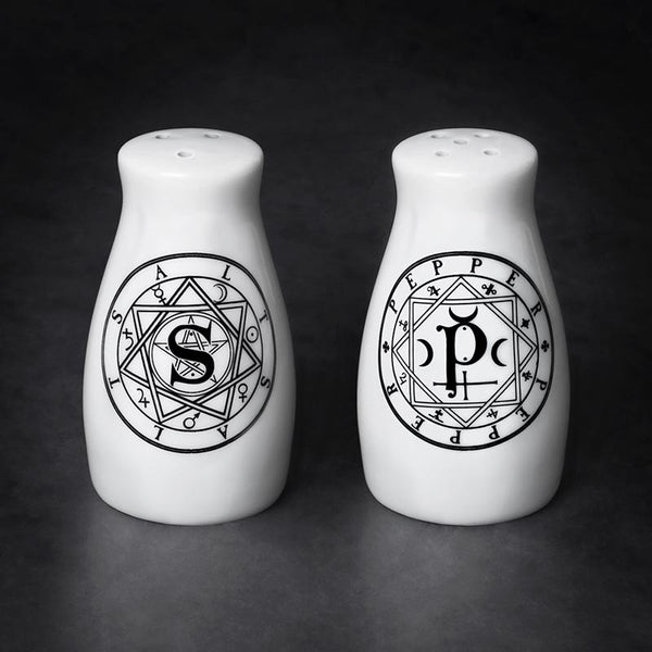 Occult Symbols Salt and Pepper Shakers