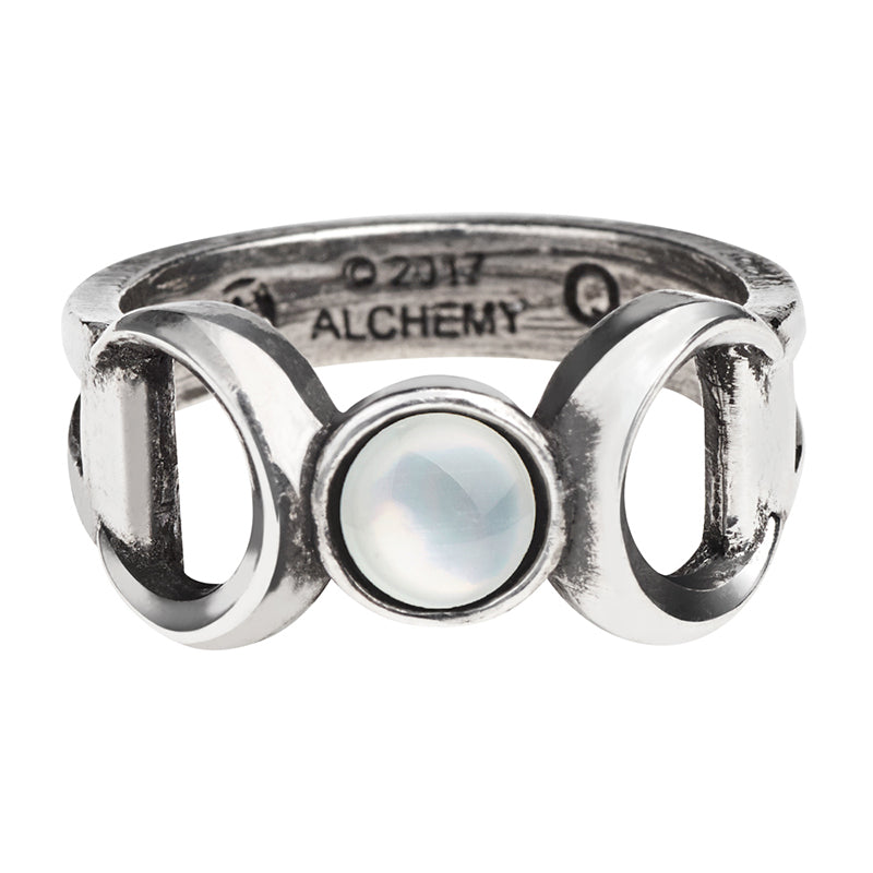 Triple Goddess Moon Ring