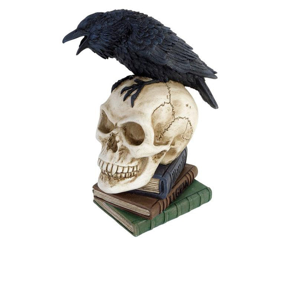 Poe's Raven Skull Desk Ornament
