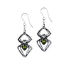 Spider Venom Emerald Earrings