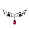 Infinite Love Black Rose Necklace