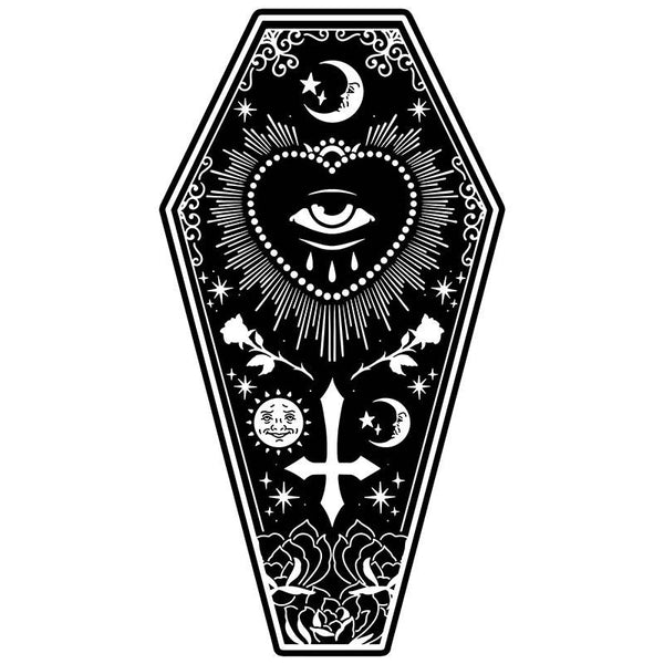 All Seeing Eye Coffin Shaped Towel
