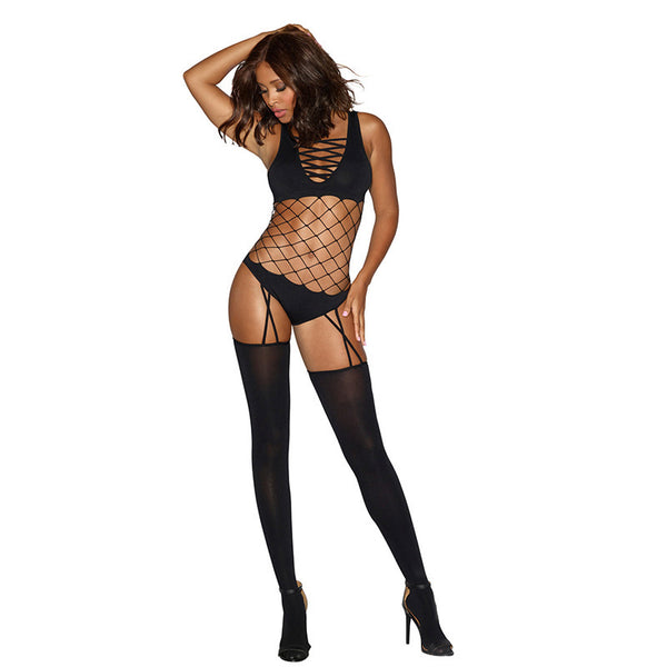 Diamond Teddy Body Stocking