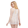 French Lace Babydoll & G-String - White