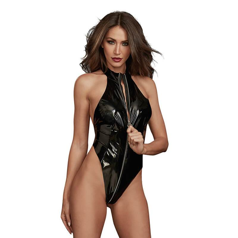 Latex Zippered High Neck Playset