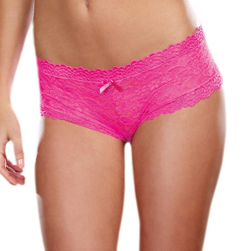 Lace Hipster Panty - Pink
