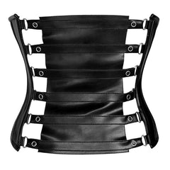 Gothic Fetish Waist Cincher With Mesh
