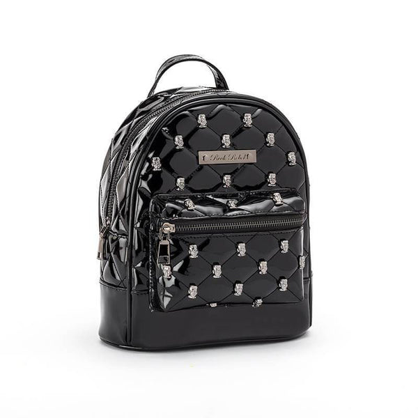 Black Frankenstein Head Studded Backpack Purse