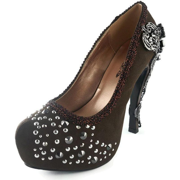 Size 9 - Sequin Studded Alchemic Brown High Heels