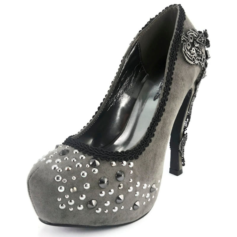 Size 10 - Sequin Studded Alchemic Grey High Heels