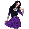 Elvira Comic Icons Purple Skater Dress