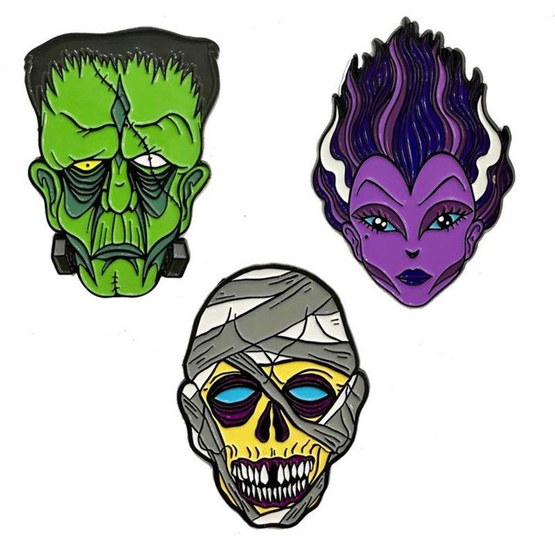From Beyond the Grave Monster Pin Set