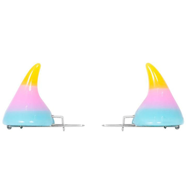 Horror Hair Horns - Yellow/Pink/Blue Ombre
