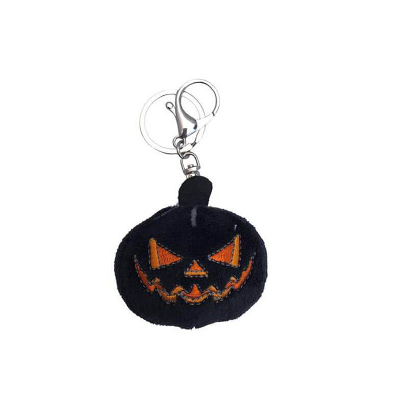 Black Pumpkin Plush Keychain